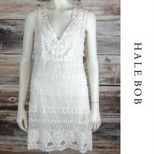 NWT Hale Bob Cream Lace Dress Cream Medium